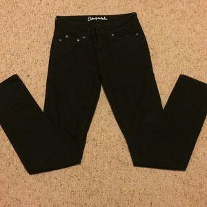 Aeropostale black bayla skinny jeans size 2 reg